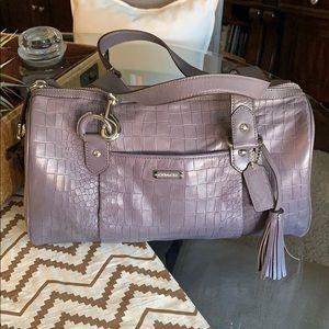Purple/gray leather Coach purse